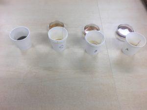 実験のコーヒーサンプル